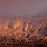 十勝連峰,雪山,夕日