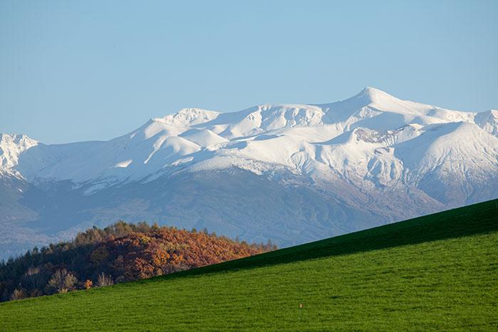 十勝連峰,雪山