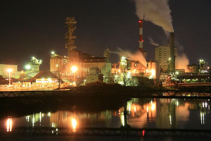 富士,工場,工業地帯